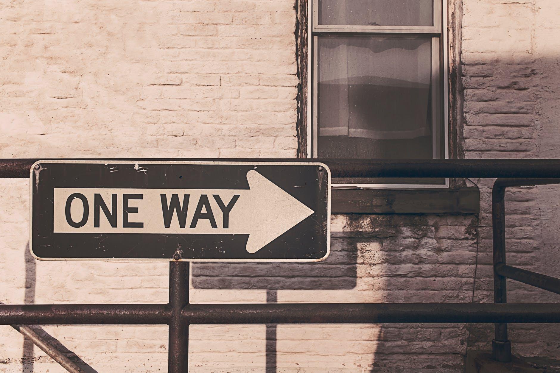road street sign way