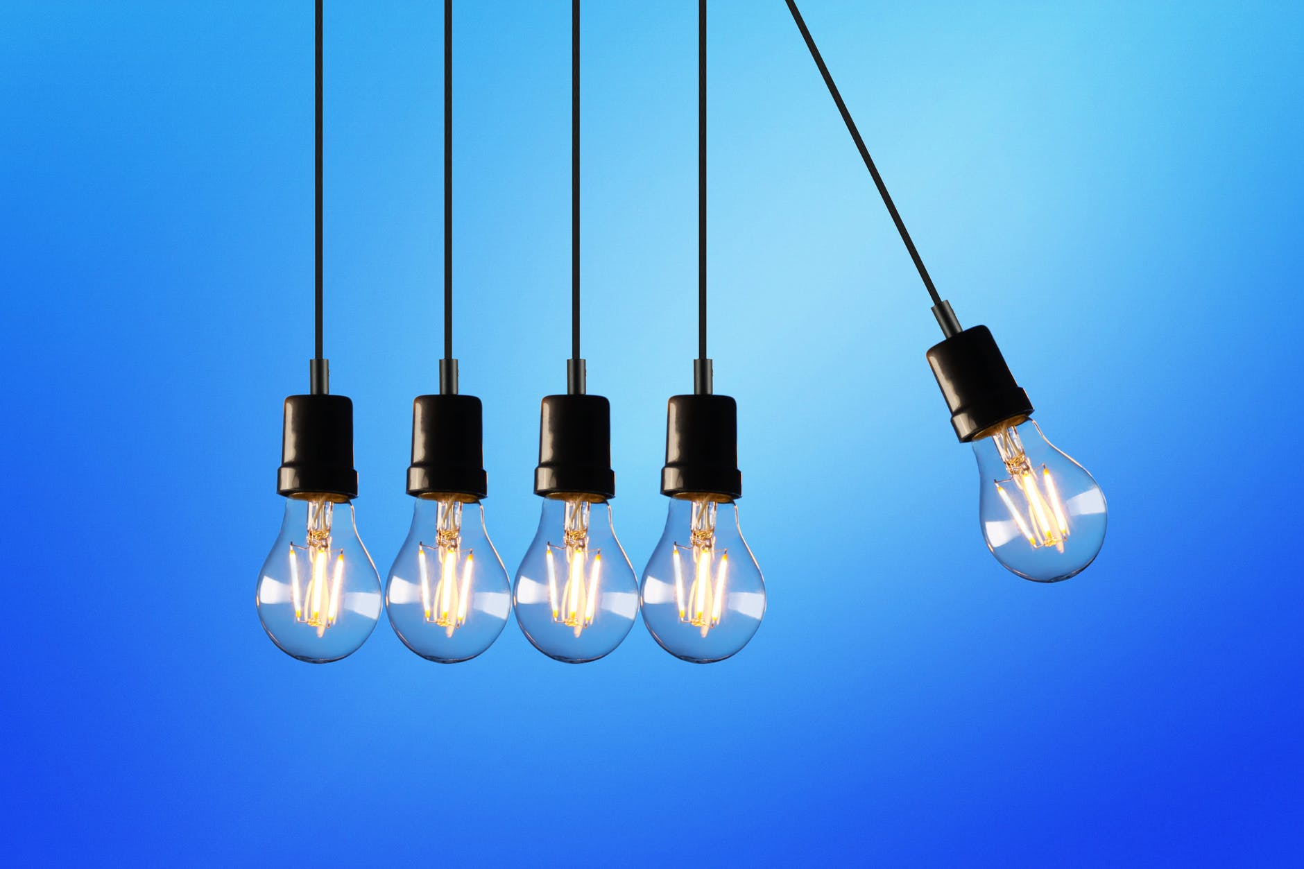 five bulb lights
