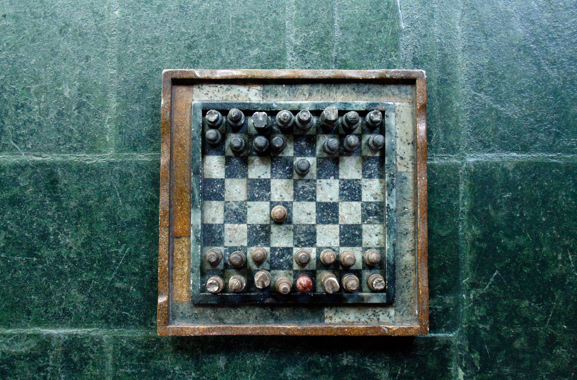 playing rock game chess